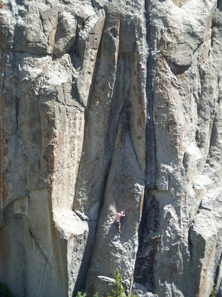 Rock Climbing Photo: Jeff G. is right below the tricky section on the l...