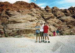 Rock Climbing Photo: me, pitter and harris.... first pullout, 1994