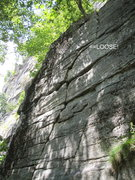 Rock Climbing Photo: The first pitch of Columbia, which follows the obv...