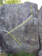 Rock Climbing Photo: follow ramp up to the point top out