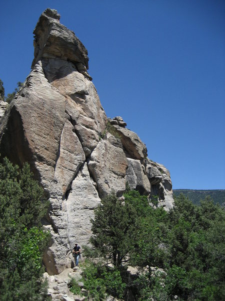 Rock Climbing Photo: X-Rock as seen from from the trail.
