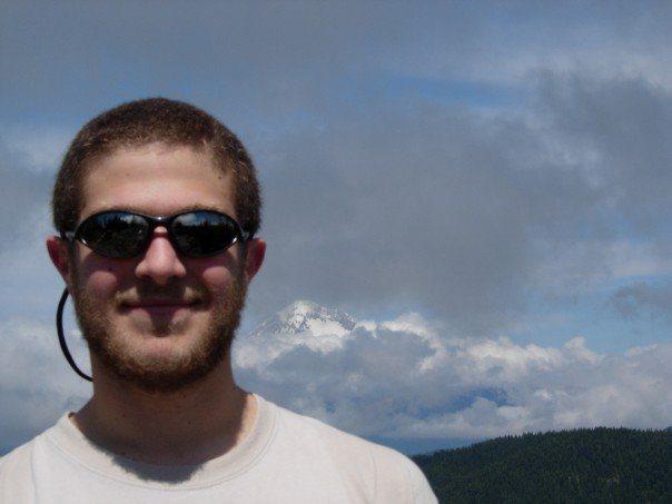 me in front of Mt. Hood.