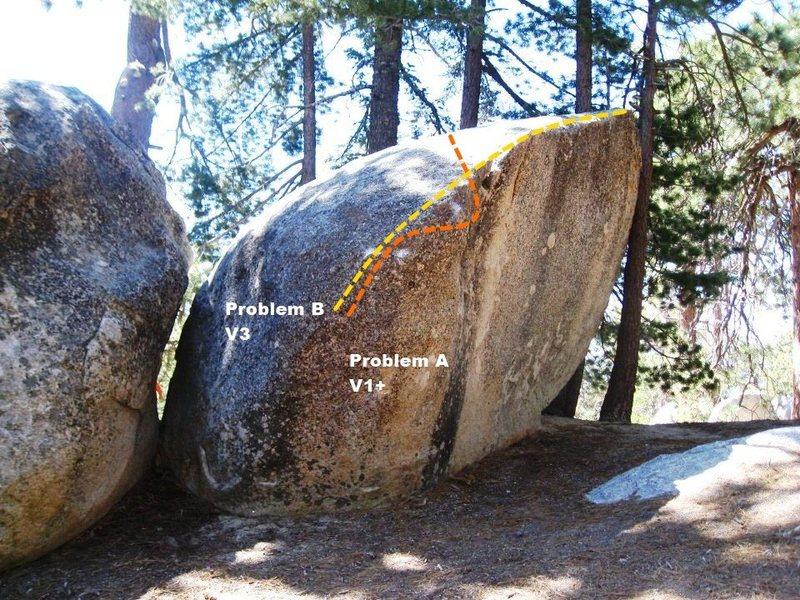 Rock Climbing Photo: Lip Boulder East Face Topo