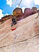 Rock Climbing Photo: Me, and the ball and chain, makin' dust on P1.  ph...