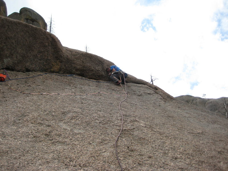 Nearing the end of the traverse on P2 of original version.