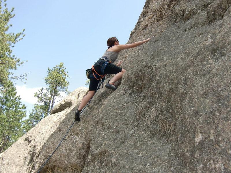 "Rock Climbing Photo: Mindy Harrell creeps up ""Stormy Nightg"""