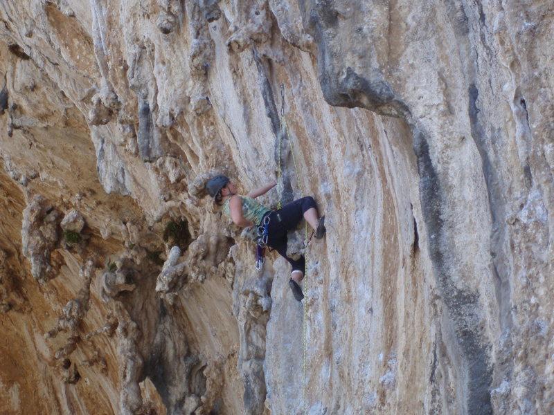 Rock Climbing Photo: Kelly sending Monahiki Elia.
