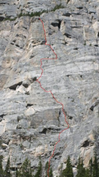 The route. Sorry about the blurry picture.