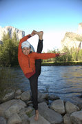 yoga in yosemite