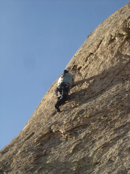 Rock Climbing Photo: Mark Miner on Seams Like Lightning.