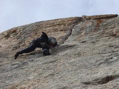 Rock Climbing Photo: Steepens up a bit....