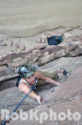 Rock Climbing Photo: Jill Cooper following P1.