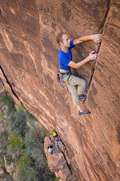 Rock Climbing Photo: Me on Karmic Edges... Photo Eric Draper