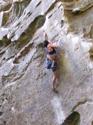 Rock Climbing Photo: The classic 5.12a, Ro Shampo at RRG.