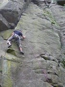 Rock Climbing Photo: Pat just through the crux.
