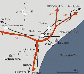 Map to La Clape