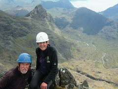 Rock Climbing Photo: Pete and Lyn Armstrong on the summit of Am Bastier...