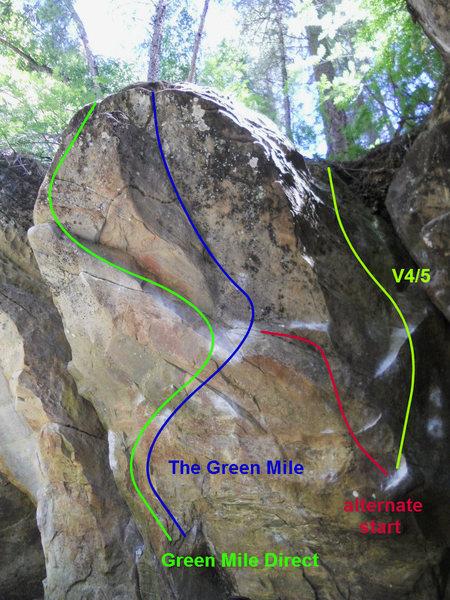 Green Mile Boulder with variations