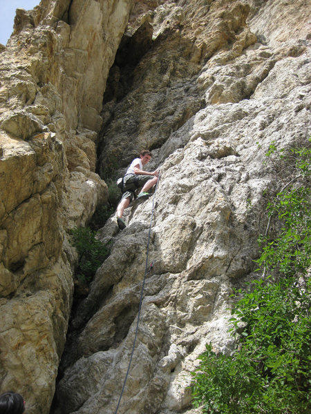 Rock Climbing Photo: My roommate on Learner's Permit. It was his first ...