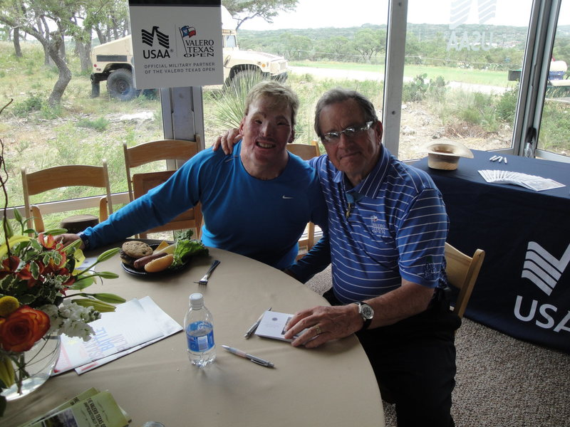 Me with Medal of Honor awardee Gen Bradey at the Valero Texas Open!