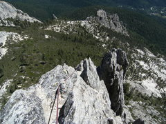 Rock Climbing Photo: Looking back down p6