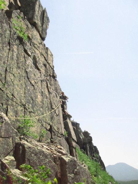 Teresa getting rid of the rope drag.