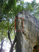 Rock Climbing Photo: The Donkey Dong Arete, now minus the Dong.