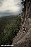 Rock Climbing Photo: Ansel climbing Retaliation during the summer solst...