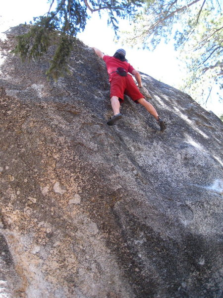Rock Climbing Photo: Euan high up, dared to be a bonehead