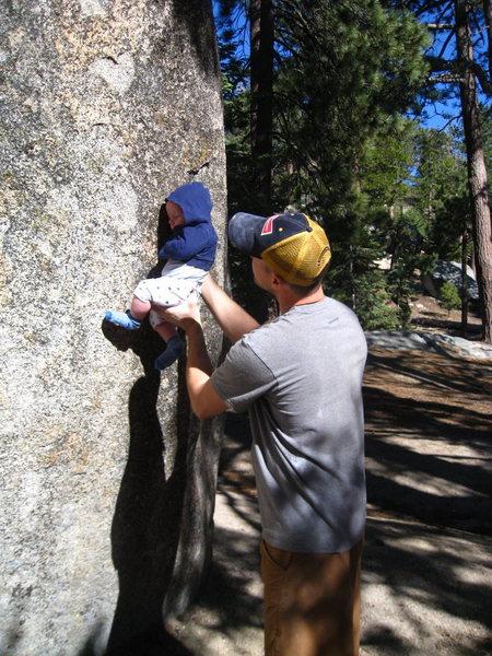 Rock Climbing Photo: future bonehead