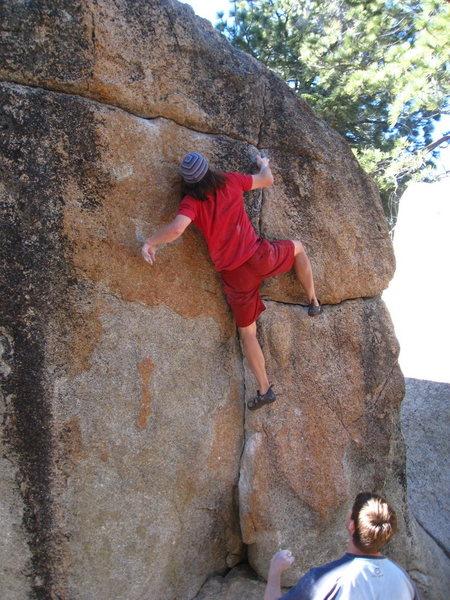 Rock Climbing Photo: Euan on the pink crack (good spot Tim)