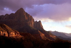 Rock Climbing Photo: Clearing Storm - Zion NP, Utah