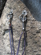 Rock Climbing Photo: The bolts at the first belay station as of June 20...