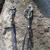 The bolts at the first belay station as of June 2010.  The second belay station is exactly the same