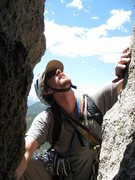 Rock Climbing Photo: Surveying the chimney pitch, as viewed from the ni...