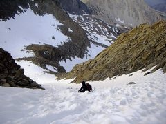 Rock Climbing Photo: Glissading down the L-shaped col - reason #2 for a...