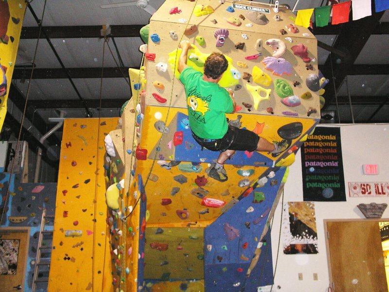 Rock Climbing Photo: Pulling the basic V3 boulder route