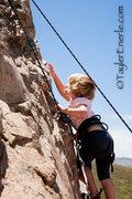 London Gailey, Age 3, Climbing The Corner, (5.4)  <br />©TaylerEnerle.com.