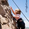 London Gailey, Age 3, Climbing The Corner, (5.4) <br> ©TaylerEnerle.com.