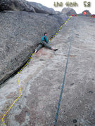 Rock Climbing Photo: The Slash 5.8 - Grouse Slabs - Donner, CA