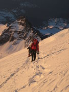 Rock Climbing Photo: On the way to camp Schurman on Mt Rainier. Little ...