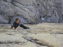 Rock Climbing Photo: Megan on the excellent finishing moves of Supergri...