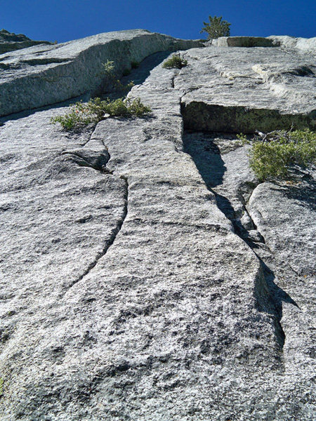 Rock Climbing Photo: The start of Last Grapes.  Head up the crack past ...