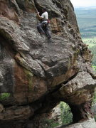 Rock Climbing Photo: Topping out the finishing face after 100 feet of c...