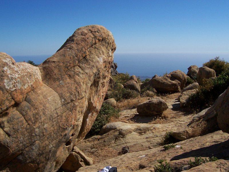 Rock Climbing Photo: Classic, steep, slopey Santa Barbara bouldering!