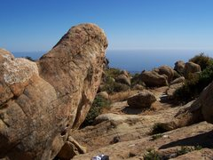 Rock Climbing Photo: Classic, steep, slopey Santa Barbara bouldering!