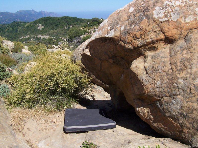Rock Climbing Photo: Emergency Response, V4. Only a couple of moves, bu...
