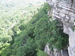 Rock Climbing Photo: Looking down at the 2nd belay while heading up the...