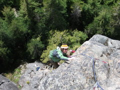 "Rock Climbing Photo: Darrell on p2 of ""Right On"" at 7 mile ro..."