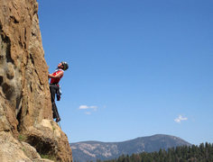 Rock Climbing Photo: Mary Moser leading Gold Standard.